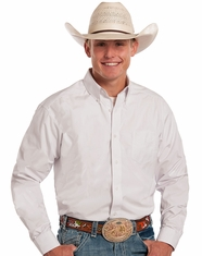 Panhandle Slim Men's Tuf Cooper Long Sleeve Solid Competition Button Down Shirt - White