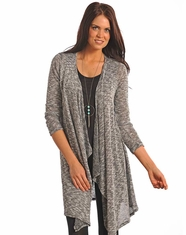 Panhandle Slim Women's Long Sleeve Knit Duster Sweater - Black (Closeout)