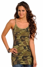 Panhandle Slim Womens Cami Top - Camo