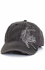 PBR Mens Bull Rider Cap - Black (Closeout)