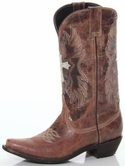 Pecos Bill Women's Winged Cross Boot - Brown (Closeout)