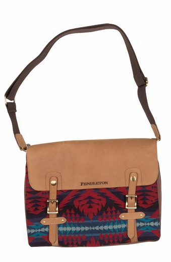 Pendleton Messenger Bag - Red Mini Diamond Desert