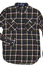 Pendleton Long Sleeve Burnside Western Shirt - Blue/Green (Closeout)