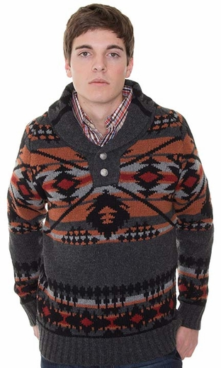 Pendleton Men's Diamond Desert Pullover Sweater - Grey (Closeout)