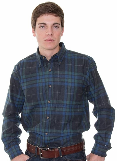 Pendleton Men's Fireside Button Down Plaid Flannel Shirt - Blue/ Slate/ Green (Closeout)