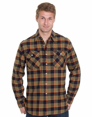 Pendleton Men's Long Sleeve Burnside Shirt - Navy/Green Check (Closeout)