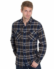 Pendleton Men's Long Sleeve Burnside Shirt - Navy Plaid (Closeout)