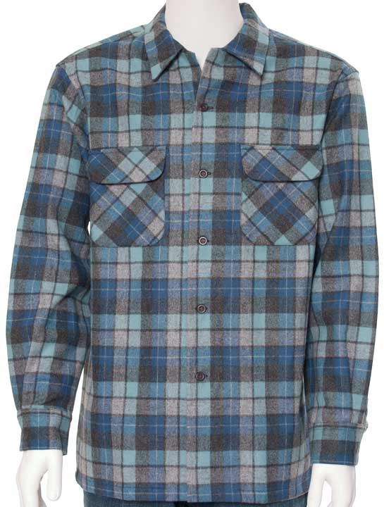 Pendleton Men's Long Sleeve Button Down Board Shirt - Beach Boys Plaid