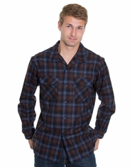 Pendleton Men's Long Sleeve Classic Board Shirt - Blue/Brown/Navy Plaid (Closeout)