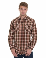 Pendleton Men's Long Sleeve Frontier Snap Shirt - Black/Rust Ombre