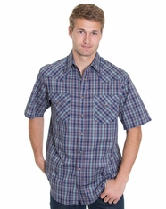 Pendleton Men's Short Sleeve Frontier Plaid Shirt - Blue/Pink