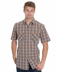 Pendleton Men's Short Sleeve Santiam Plaid Shirt - Brown/Blue (Closeout)