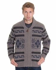 Pendleton Men's Westerly Zip Front Sweater - Charcoal