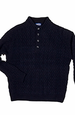 Pendleton Mens Button Placket Sweater - Navy (Closeout)