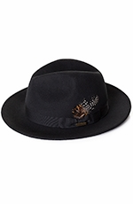 Pendleton Mens Wool Felt Dress Hat - Black (Closeout)
