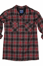 Pendleton Mens Long Sleeve Fitted Board Shirt - Red/Black