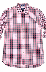 Pendleton Mens Long Sleeve Fitted Westover Plaid Western Shirt - Melon/Navy (Closeout)