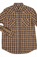 Pendleton Mens Long Sleeve Frontier Western Shirt - Bronze/Black (Closeout)