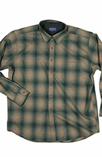 Pendleton Mens Long Sleeve Lodge Western Shirt - Aqua/Tan