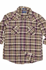 Pendleton Mens Long Sleeve Madras Epic Plaid Western Shirt - Purple (Closeout)