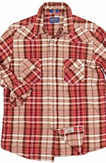 Pendleton Mens Long Sleeve Madras Epic Plaid Western Shirt - Red (Closeout)