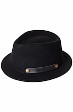 Pendleton Mens Roll-up Stingy Brim Hat - Black (Closeout)
