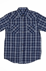 Pendleton Mens Short Sleeve Frontier Plaid Western Shirt - Blue
