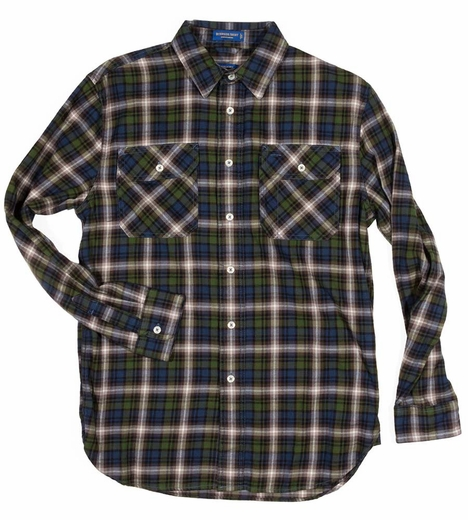 Pendleton Long Sleeve Burnside Western Shirt - Blue/Green