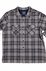 Pendleton Mens Western Shirt Long Sleeve Fitted Board Shirt - Blue/Grey (Closeout)