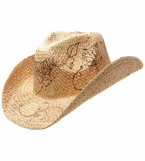 Peter Grimm Burnt Roses Drifter Cowboy Hat - Natural