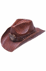 Peter Grimm Flint Drifter Cowboy Hat - Dark Brown