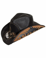 Peter Grimm Outlaw Entropy Drifter Hat with Bandana - Black