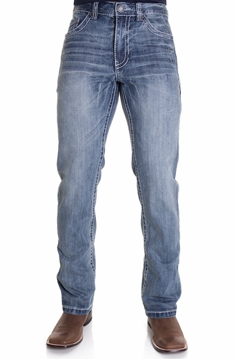 Petrol Mens Jed Regular Boot Cut Jeans (Closeout)