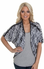 Petrol Womens All in the Shawl Top - Grey