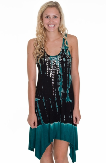 Petrol Womens Short Sleeve Bling Thing Summer Dress - Black