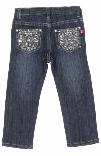 Pop Jeans Toddler Girls Bling Blossom Pocket Jeans - Stonewash (Closeout)