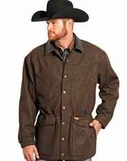 Powder River Men's Montana Wool Heather Coat - Brown