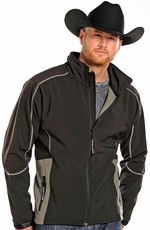 Powder River Men's Soft Shell Fleece Jacket - Black