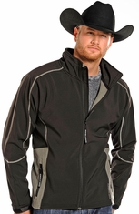 Powder River Men's Soft Shell Fleece Jacket - Black (Closeout)
