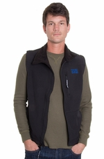 Powder River Men's Soft Shell Fleece Vest - Black