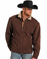 Powder River Men's Fleece Jacket - Brown (Closeout)