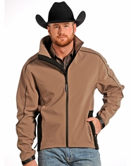 Powder River Men's Soft Shell Jacket - Brown