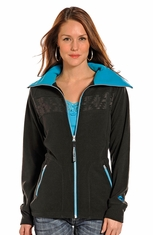 Powder River Women's Aztec Fleece Jacket - Black (Closeout)