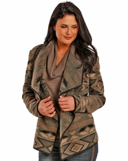 Powder River Women's Aztec Print Wool Jacket - Grey