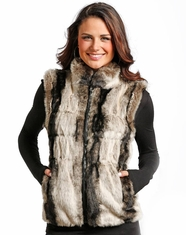 Powder River Women's Faux Fur Vest - Black