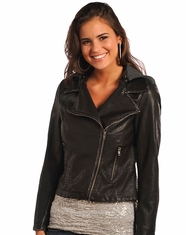 Powder River Women's Hooded Moto Jacket - Brown