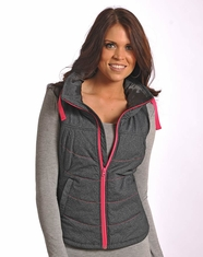 Powder River Women's Ruched Performance Vest - Grey
