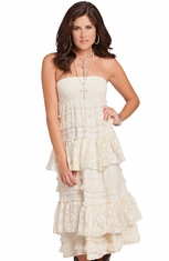 Rancho Estancia Womens Braelyn Lace Convertible Skirt Dress