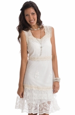 Rancho Estancia Womens Christy Dress - Vanilla