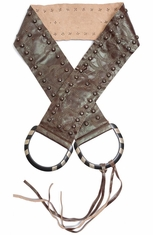 Rancho Estancia Womens D-Ring Belt - Brown